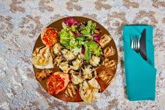 餐馆食物点心开胃菜 库存照片