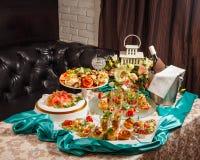 餐馆食物点心开胃菜 免版税图库摄影