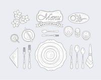餐馆餐桌装饰品 库存图片