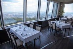 从餐馆高度的看法在布拉索夫,斯洛伐克 免版税库存照片