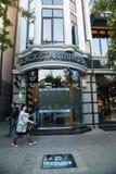 餐馆黑色星汉堡在格罗兹尼,车臣打开了 免版税库存图片