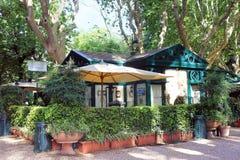 餐馆La卡西纳小山谷Orologio,别墅Borghese,罗马 图库摄影