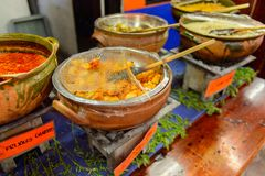 餐馆La Choza del Chef在瓦哈卡 库存照片