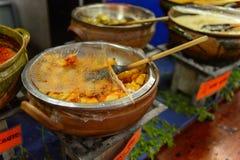 餐馆La Choza del Chef在瓦哈卡 免版税图库摄影