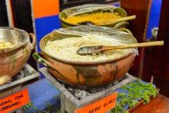 餐馆La Choza del Chef在瓦哈卡 免版税库存照片