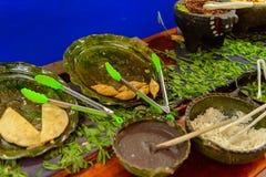 餐馆La Choza del Chef在瓦哈卡 图库摄影