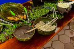 餐馆La Choza del Chef在瓦哈卡 库存图片