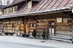 餐馆U Wnuka在扎科帕内 免版税图库摄影