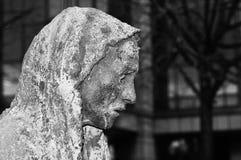 饥荒雕象在都伯林,爱尔兰 免版税图库摄影