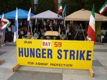 饥饿伊朗罢工 免版税库存照片