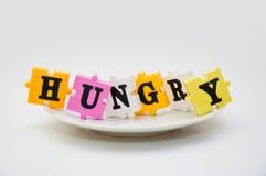 饥饿的子项 免版税库存图片