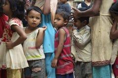 饥饿的尼泊尔孩子 免版税库存照片