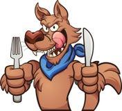 饥饿的狼 免版税库存照片