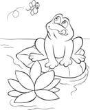 饥饿的青蛙 免版税库存图片