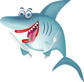 饥饿的鲨鱼 库存图片