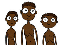 饥饿非洲的子项 免版税库存照片