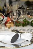 饭桌特写镜头 图库摄影