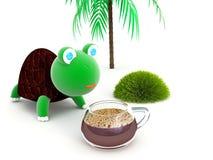 饮料乌龟咖啡 免版税库存图片