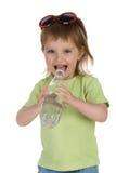 饮料女孩少许水 免版税库存照片