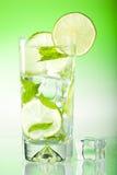 饮料新鲜的被冰的石灰薄菏 库存图片