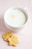 饮料热牛奶 库存照片