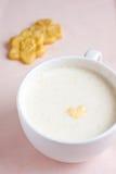 饮料热牛奶 免版税库存照片