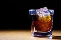 饮料玻璃红色 免版税库存照片