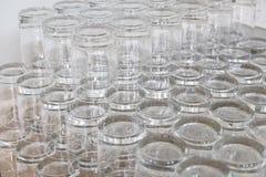 饮料的空的玻璃短的翻转者 免版税库存图片