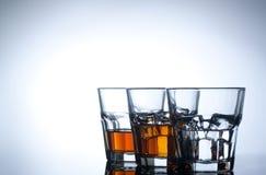 饮料种类在空白背景的 免版税库存照片