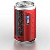 饮料罐头设备相似的自动贩卖机 库存照片