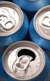饮料罐头顶视图 库存照片