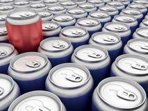 饮料罐头 免版税库存照片