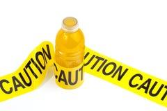 饮料能源警告 免版税库存图片