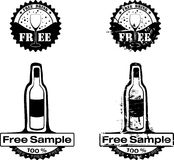 饮料自由不加考虑表赞同的人 免版税库存照片
