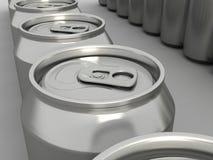 饮料装特写镜头于罐中 库存照片