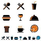 饮料食物图标 向量例证
