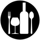 饮料食物符号 库存照片