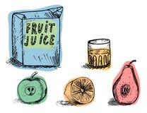 饮料鲜美和健康汁液 库存图片