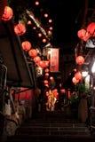 饮料jioufen晚上红色街道 库存照片