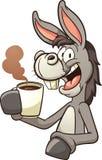 驴饮用的咖啡 库存例证