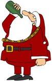 饮用的圣诞老人酒 库存例证