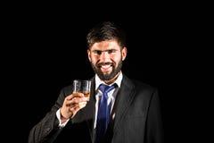 饮用的威士忌酒 库存图片