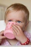饮用的孩子 库存图片