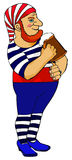 饮用的海盗 免版税库存图片