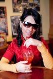 饮用的玛格丽塔酒 图库摄影