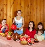 饮用的系列俄国快餐茶 免版税库存照片