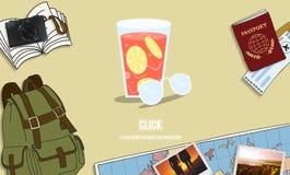 饮用的网页寒冷的饮料松弛概念 向量例证