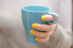 饮用的茶 免版税库存照片