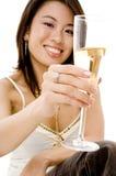 饮用的香宾 免版税库存图片