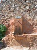 饮用的eau Sentier des Ocres 库存照片
